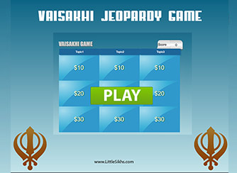 Vaisakhi Jeopardy Game