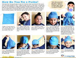 How do you tie a Patka